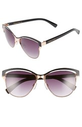 Sam Edelman Women's Circus By 56Mm Vented Cat Eye Sunglasses Rose Gold Black Rose Gold Black