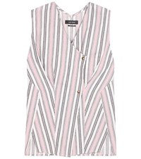 Isabel Marant Safi Striped Cotton Top Pink