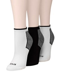 Hue 3 Pack Air Sleek Socks White Black