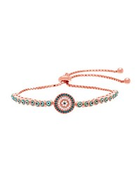 Lord And Taylor Cubic Zirconia And Sterling Silver Evil Eye Slider Bracelet Rose Gold