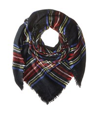 Hat Attack Plaid Blanket Scarf Black Multi Scarves