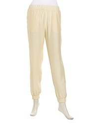 Minnie Rose Pull On Relaxed Sateen Pants Platinum