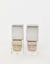 New Look 2 Pack Nail Varnish In Beige And Gold Beige Gold Clear