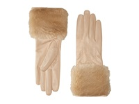 Ted Baker Jania Fur Lined Leather Gloves Beige Extreme Cold Weather Gloves