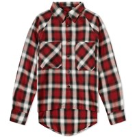 Mr. Completely Raglan Flannel Shirt Red