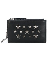 Jimmy Choo Star Studded Wallet Men Calf Leather One Size Black