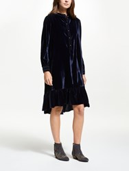 And Or Fifi Velvet Dress Navy