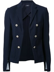Theory Cropped Blazer Blue
