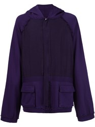 Haider Ackermann Zipped Hoodie Pink And Purple