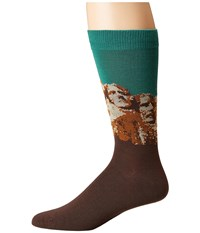 Socksmith Mount Rushmore Deep Aqua Crew Cut Socks Shoes Blue