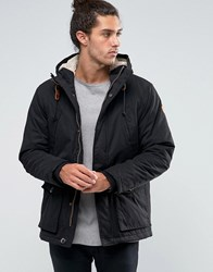 Esprit Parka With Borg Lined Hood Black