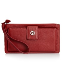Giani Bernini Softy Leather Medium Grab And Go Wallet Red