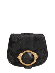Roberto Cavalli Ayers And Leather Bag W Star Patches