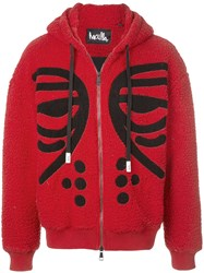 Haculla Masked Zipped Hoodie Red