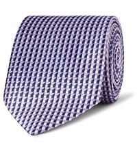 Dunhill 7.5Cm Mulberry Silk Jacquard Tie Lilac