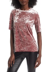Women's Bp. Crushed Velour Tee Pink Mauve