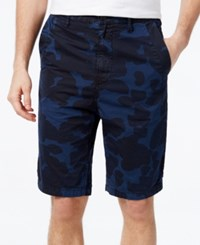 Gstar Men's Tapered Camo Print Shorts Sapphire Blue