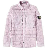 Stone Island Garment Dyed Micro Down Shirt Jacket Pink