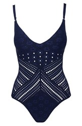 Robin Piccone Clarissa One Piece Swimsuit Midnight Navy