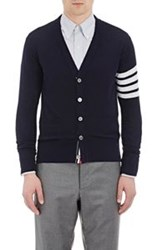 Thom Browne Block Striped Cardigan Blue