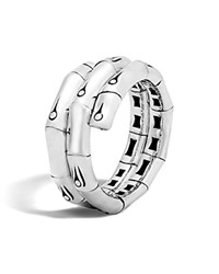 John Hardy Bamboo Silver Double Coil Ring 100 Bloomingdale's Exclusive