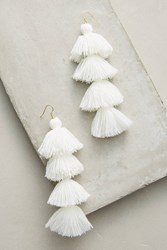 Anthropologie Royal Blue Drop Earrings White
