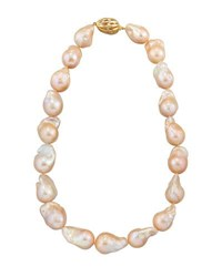 Belpearl 14K Baroque Peach Freshwater Pearl Necklace 18 L