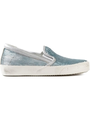 Philippe Model Sequin Trainers Blue