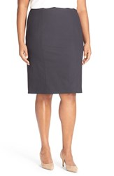Sejour Plus Size Women's Pinstripe Suit Pencil Skirt