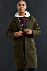 Urban Outfitters Uo Relaxed Raglan Sleeve Top Coat Olive