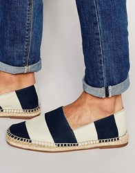 Aldo Larelang Striped Espadrilles Navy