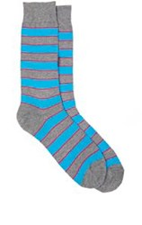 Richard James Striped Mid Calf Socks Grey