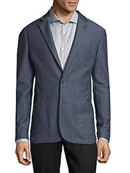 Saks Fifth Avenue Notch Lapels Jacket Indigo