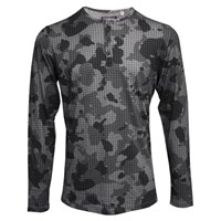 Lords Of Harlech Norbert Henley In Charcoal Camo Grey