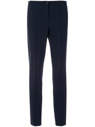 Cambio Tailored Fitted Trousers Blue