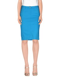 Angelo Marani Skirts Knee Length Skirts Women Azure
