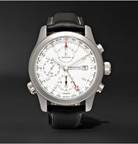 Kingsman Bremont Alt1 Wt Wh World Timer 43Mm Stainless Steel And Leather Automatic Chronograph Watch Silver
