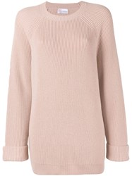 Red Valentino Chunky Knit Jumper Pink