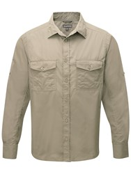 Craghoppers Kiwi Long Sleeved Shirt Parchment