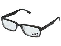 Spy Optic Holden Brushed Gunmetal Matte Gray Smoke Reading Glasses Sunglasses Clear