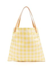Mansur Gavriel Hobo Oversized Canvas Tote Bag Yellow Multi