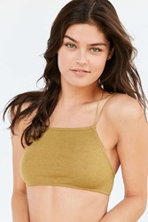 Out From Under Go To Seamless Ribbed Bra Green