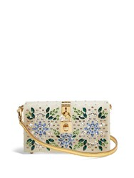 Dolce And Gabbana Crystal Embellished Box Clutch Multi