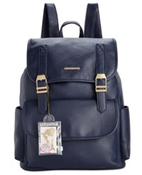 Rampage Customizable Perforated Flap Backpack With Pins Only At Macy's Navy
