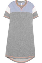 Richard Nicoll Paneled Cotton Jersey Sweatshirt Dress Gray