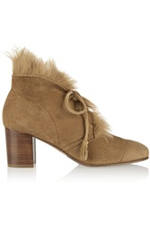 Pedro Garcia Xadani Shearling Lined Suede Ankle Boots