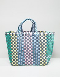 Stradivarius Multi Woven Large Bag