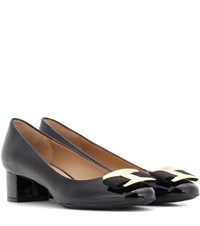 Salvatore Ferragamo Ninna Patent Leather Pumps Black
