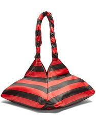 Givenchy Pyramid Striped Leather Tote Red Stripe