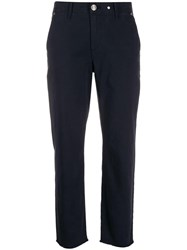 Rag And Bone Cropped Slim Fit Trousers Blue